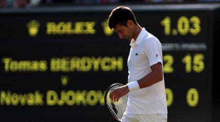 Novak Djokovic drops to fifth in ATP rankings