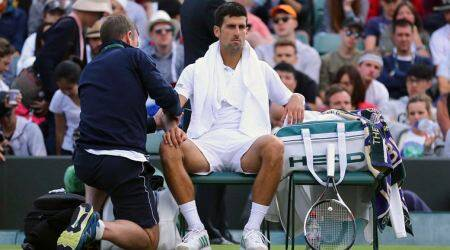 Wimbledon 2017: Novak Djokovic retires in quarter-final, Tomas Berdych advances