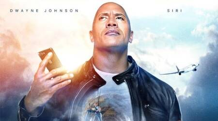 Dwayne Johnson co-stars with Siri in this Apple movie. Watch video