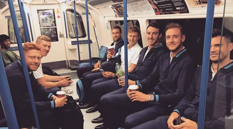 england cricket team, england vs south africa, eng vs sa, england players underground, england players tube, england cricketers tube, sports underground, sports news, cricket news, indian express