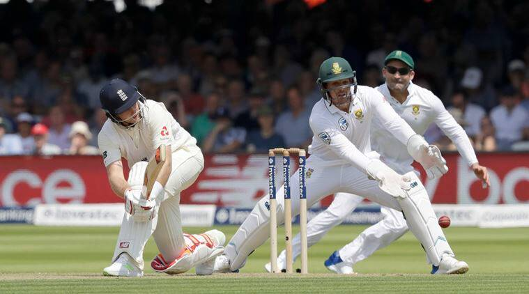 england vs south africa, 2nd test, england vs south africa day 4, faf du plessis, joe root, Hashim Amla, test cricket, cricket live, indian express