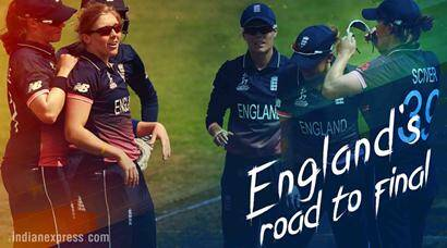 England's road to ICC Women's World Cup 2017 final