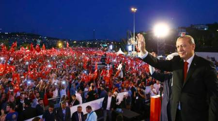 Turkey coup anniversary: Turks commemorate failed coup with huge march