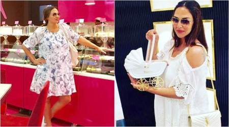 Esha Deol makes Instagram debut flaunting her baby bump, straight from a kids store. See photo