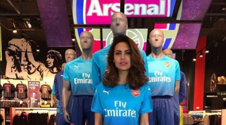 arsenal, esha gupta, Thomas Lemar, Hector Bellerin, bellerin, football, sports news, indian express