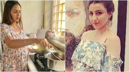 Esha Deol and Soha Ali Khan flaunt their baby bump. Here's how they made their weekend special. See photos