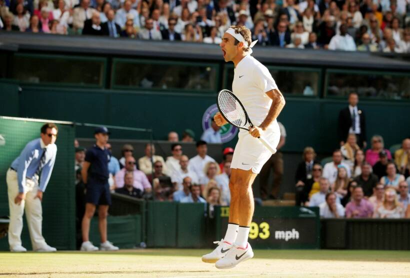 Federer sweeps compromised Cilic to win record eighth Wimbledon title