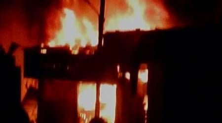 Kota: Two killed, 15 injured in massive fire at scrap market