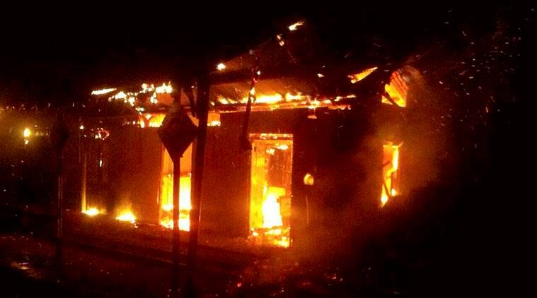 darjeeling protest, panchayat office burnt, kurseong, west bengal, gorkhaland, gjm, sonada, kalimpong, indian express