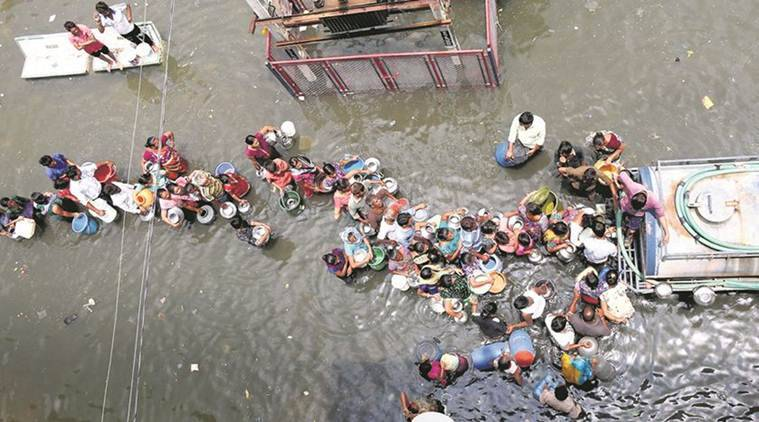 Gujarat floods, Ahmedabad flood, Vadodara flood, Anand flood, flood situation in gujarat, flood affected region gujarat, india news, indian express, indian express news