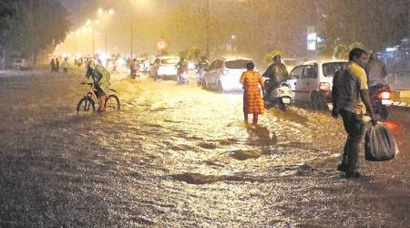 gujarat floods, ahmedabad rains, monsoon gujarat, latest news, indian express, india news