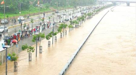 Gujarat floods: Submerged Sabarmati riverfront throws up snakes and many questions