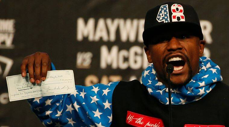 Floyd Mayweather, Manny Pacquiao, IRS, Floyd Mayweather taxes, sports news, indian express