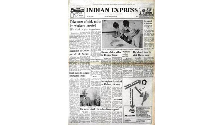 J.C. Shah, Emergency, Forty Years Ago, Indira Gandhi, Industry Minister George Fernandes, Sheikh Abdullah, indian express news, india news, editorial
