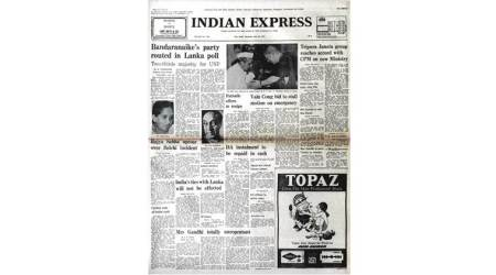 Forty Years Ago, Forty Years Ago indian express, July 24 1977, Sirimavo Bandaranaike, Sri Lanka, latest news
