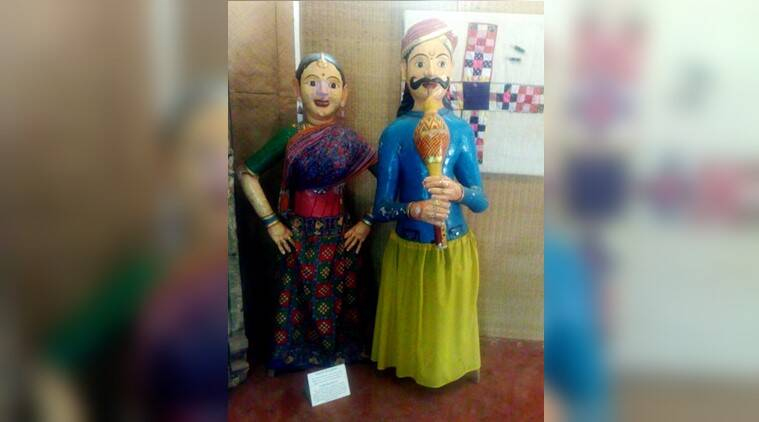 gaarudi gombe, gombe exhibition hauz khas, Popular art of Karnataka, Karnataka art and culture, Magical dolls, Indian Express, Indian Express News