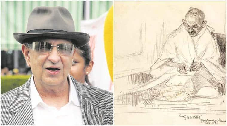 Cyrus Poonawalla, pencil portrait of Mahatma Gandhi, Sotheby's auction, India news, National news, latest news, India news,