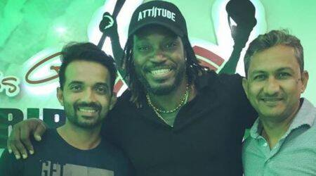 Chris Gayle dines with Team India in West Indies; see pic