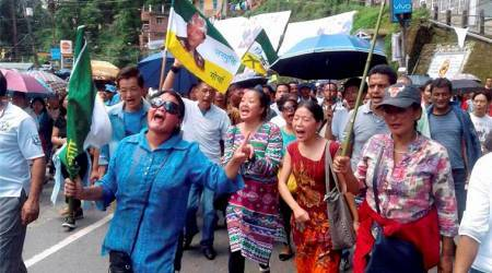 Darjeeling shutdown: on day 52, Gorkha Janmukti Morcha calls for 'Tiranga'rally