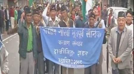 Gorkhaland agitation: Ex-servicemen stage protest demanding separatestate