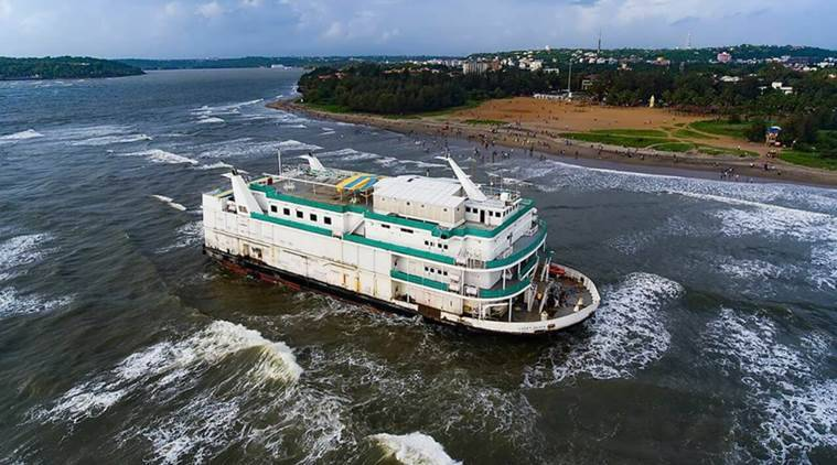 goa, goa casino vessel, goa casino vessel rescue, indian coast guard, goa casino vessel probe, indian express news, india news goa news