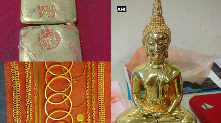 gold, gold smuggling, Mumbai Customs , gold recovered, gold buddha statue, gold bars smuggling