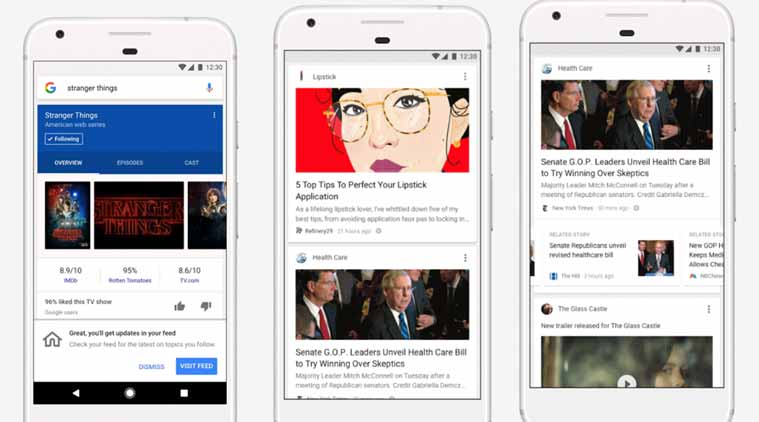 Goodbye Google Now, hello new feed that tracks your interests