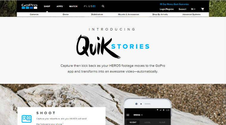 GoPro QuikStories automatically creates shareable videos