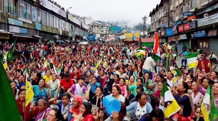 darjeeling unrest, gorkhaland agitation, gorkhaland protests, GJM dharna, Gorkhaland strike, internet restoration, gorkhaland state, india news, indian express