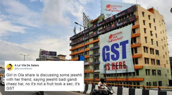 gst, goods and services tax, gst jokes, gst memes, gst confusion, gst first bill, gst protest, gst opposition parties, gst sanitary pads, india news, indian express