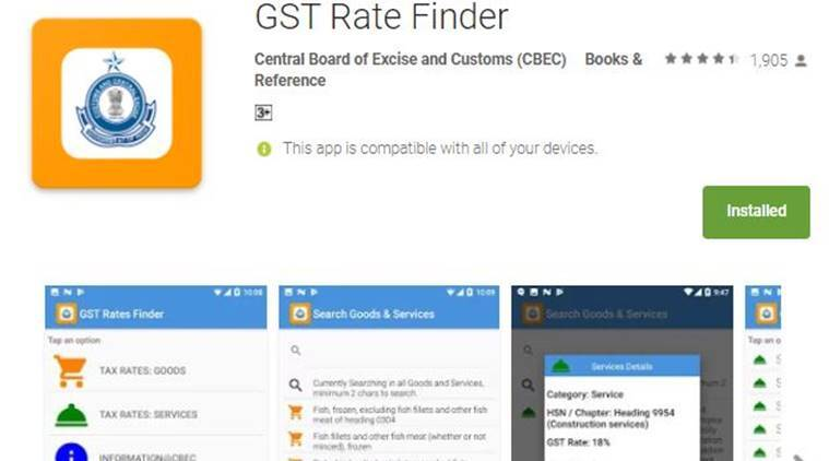 gst, gst app, gst rate finder, cbec gst, gst app play store, goods and services tax calculator, gst calculator