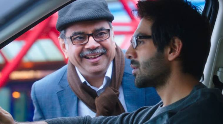 guest iin london, karthik aaryan, paresh rawal, guest in london movie, guest in london stills