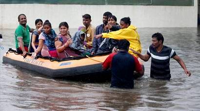 Heavy rainfall brings life to a standstill in Gujarat