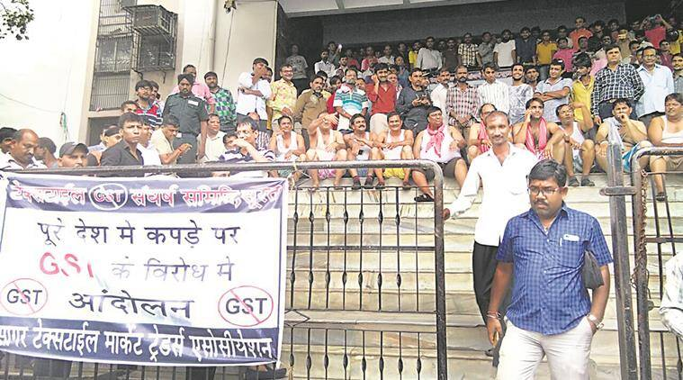 gujarat traders news, gst news, india news, indian express news