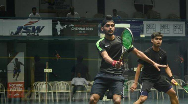 Harinder Pal Sandhu, Indian Squash Academy, Saurav Ghosal, Squash Victorian Open, squash PSA tour, sports news, indian express