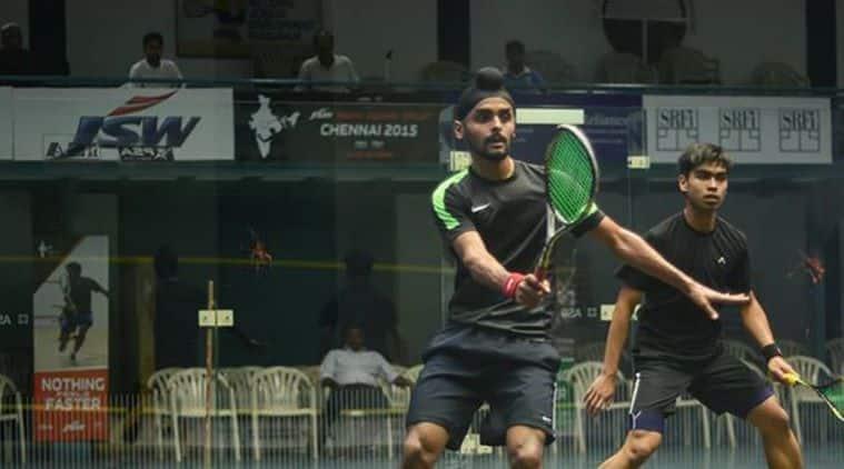 Harinder Pal Sandhu, Indian Squash Academy, Saurav Ghosal, Squash Victorian Open, squash PSA tour, sports news, indian express
