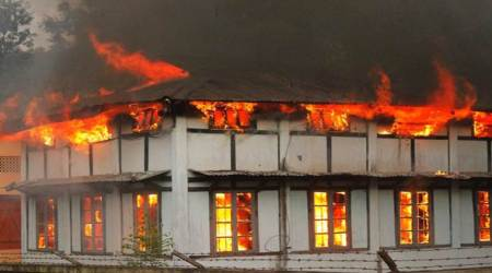 Panchayat office torched in Darjeeling, shutdown enters Day 17