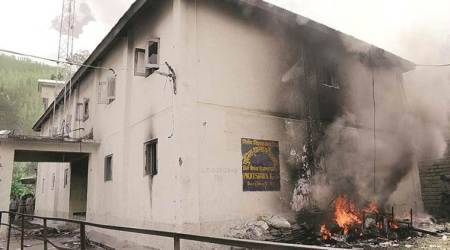 At Shimla, police station set on fire, questions loom over a custodialdeath