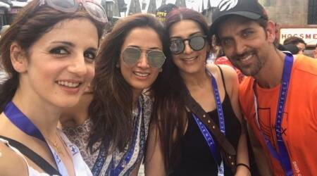 Ex-couple Hrithik Roshan and Sussanne Khan take sons on a vacation and continue to give us family goals, see photos