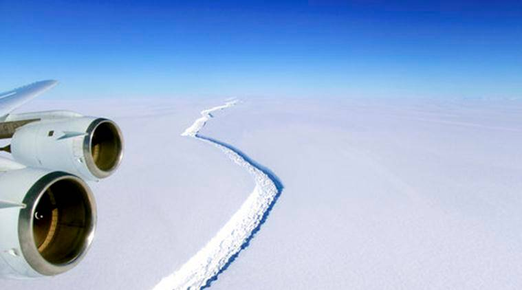 Antarctica Iceberg, Iceberg Antarctica, Antarctica Iceberg Breaks Off, Antarctica, World News, Latest World News, Indian Express, Indian Express News
