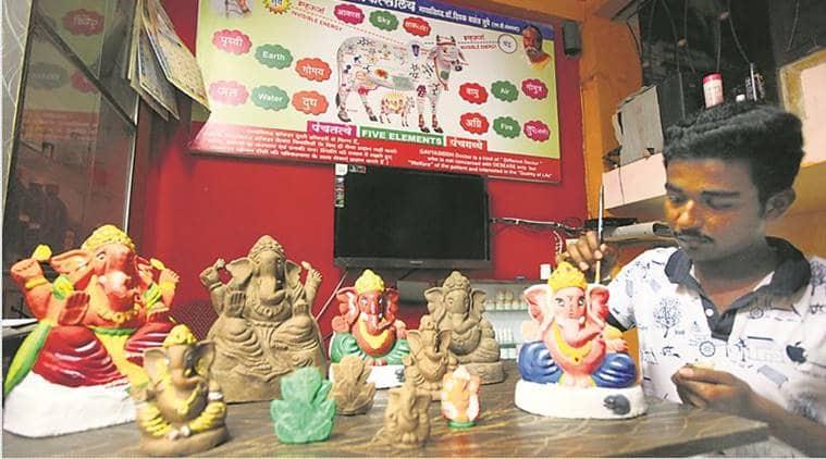 Ganeshotsav, Ganesh Chaturthi, Gaushala, Nilesh Tupe, Ganapati idols, Mumbai news, Indian Express