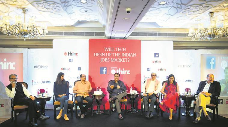 ie thinc discussion,technology job creation, bibek debroy, niti aayog, indian job market, thic indian express discussion, Pronab Sen, thinc ie, digital economy, job creation,