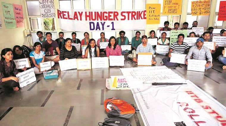 Mumbai Protest, IIT fee hike, IIT B fee hike Protest, IIT B students, Indian express, india news, IIT News, IIT fees increase,