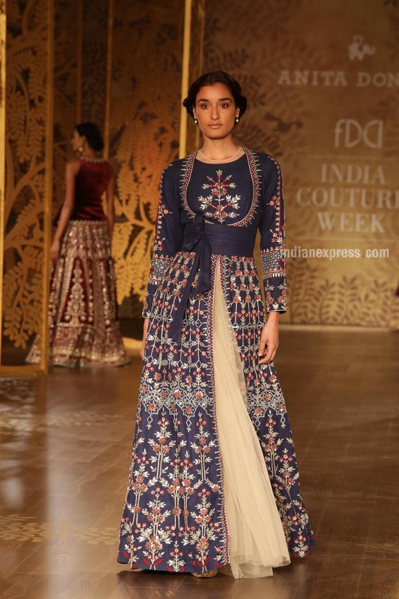Anita Dongre, india couture week 2017, india couture week, Anita Dongre designs, Anita Dongre latest collection, Anita Dongre ICW 2017, ICW 2017, Indian Express, Indian Express News