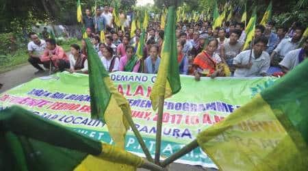 Tripura, Tripura BJP, Indigenous People's Front of Tripura, IPFT, India news, indian express news