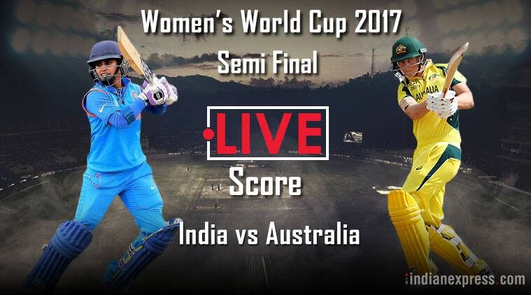 India v australia, live cricket score, ICC women's World Cup 2017, india vs australia live score, ind vs aus live streaming, ind vs aus wc live, cricket news, sports news, indian express