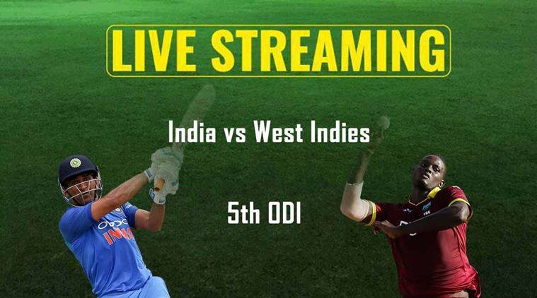 India vs West Indies 5th ODI Match - WI 68/1 From 15 Overs