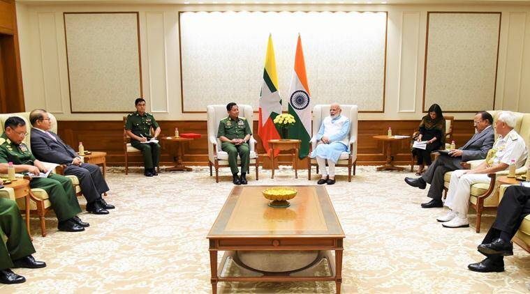 PM Narendra Modi, Modi-Myanmar, India Act East policy, India-Myanmar relations, Aung Hliang, modi-hliang, india news, indian express