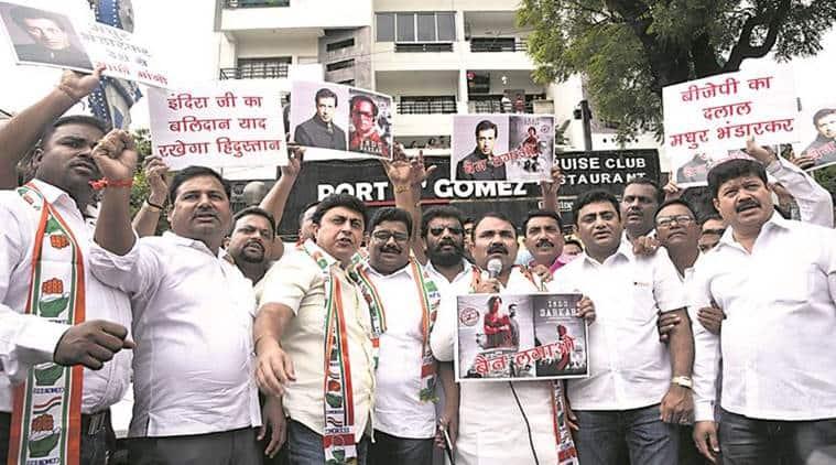 Indu Sarkar face protests, Madhur Bhandarkar film event venue changed, Madhur Bhandarkar new film controversy, Madhur Bhandarkar Film Congress Supporters,