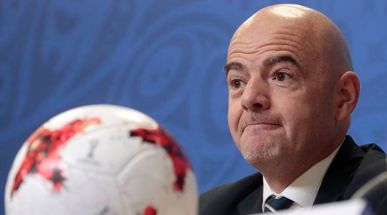 2018 FIFA world cup, Gianni Infantino, Pierluigi Collina, FIFA president, football news, sports news, indian express